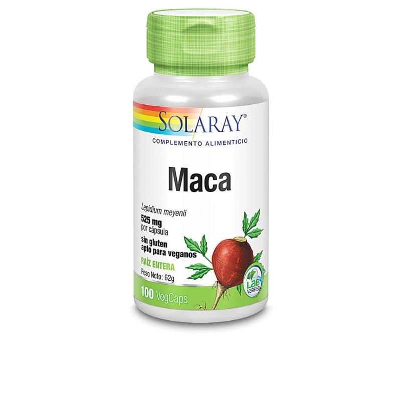 Solaray Maca Suplemento 100 Cápsulas Veganas De 525mg