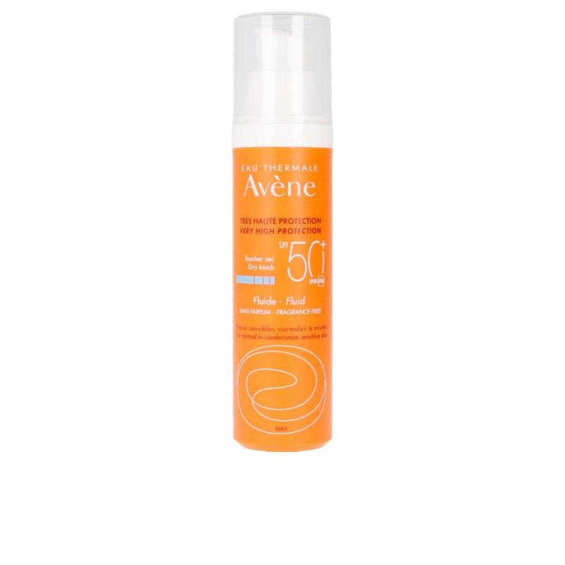 Avène Solaire Haute Protection Fluide Sans Parfum SPF50+ Protector Solar Facial 50ml