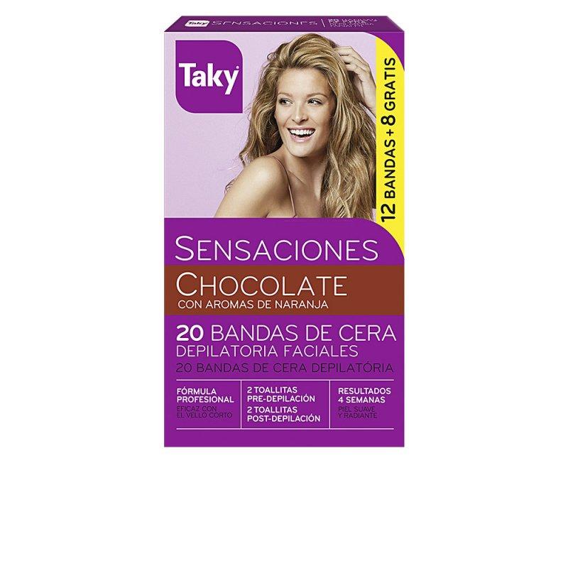 Taky Chocolate Bandas De Cera Faciales Depilatorias 20 Unidades