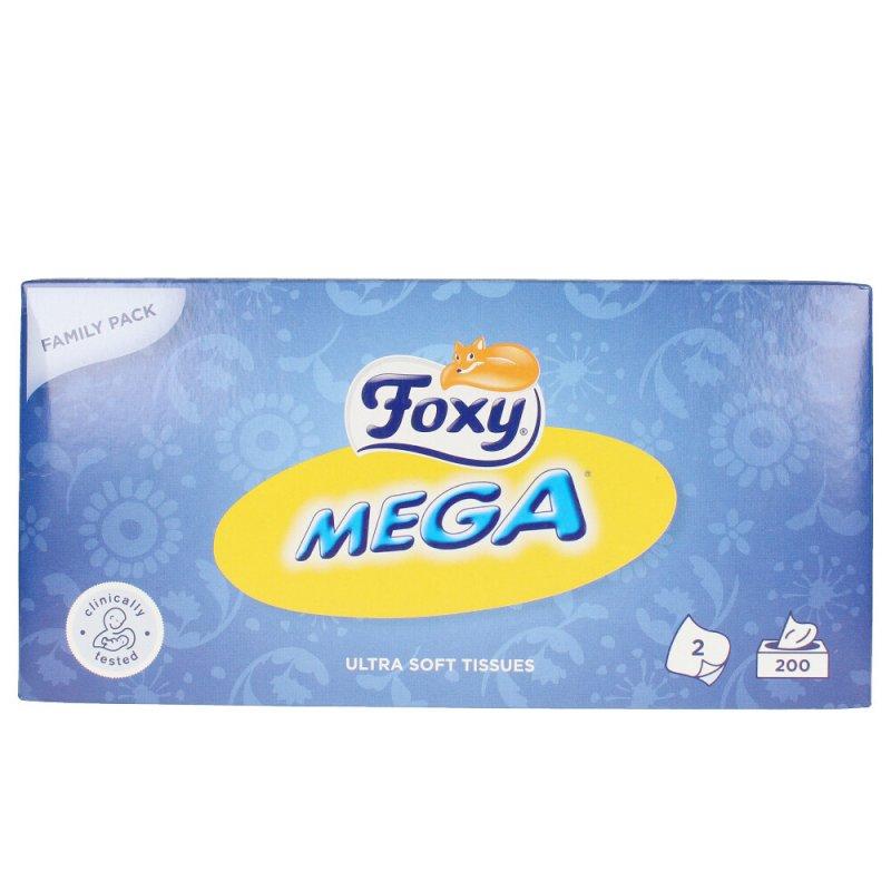 Foxy Facial Mega Pañuelos De Papel 200 Unidades