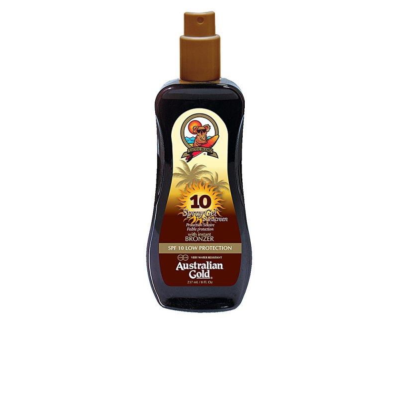 Australian Gold Sunscreen Spray Gel With Instant Bronzer SPF10 237ml