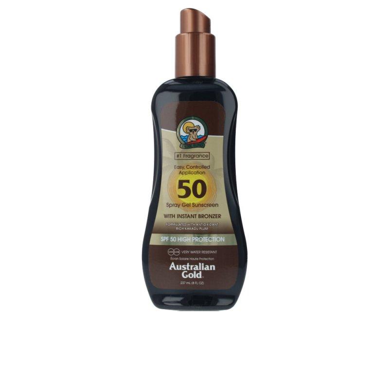 Australian Gold Sunscreen SPF50 Spray Gel With Instant Bronzer 237ml