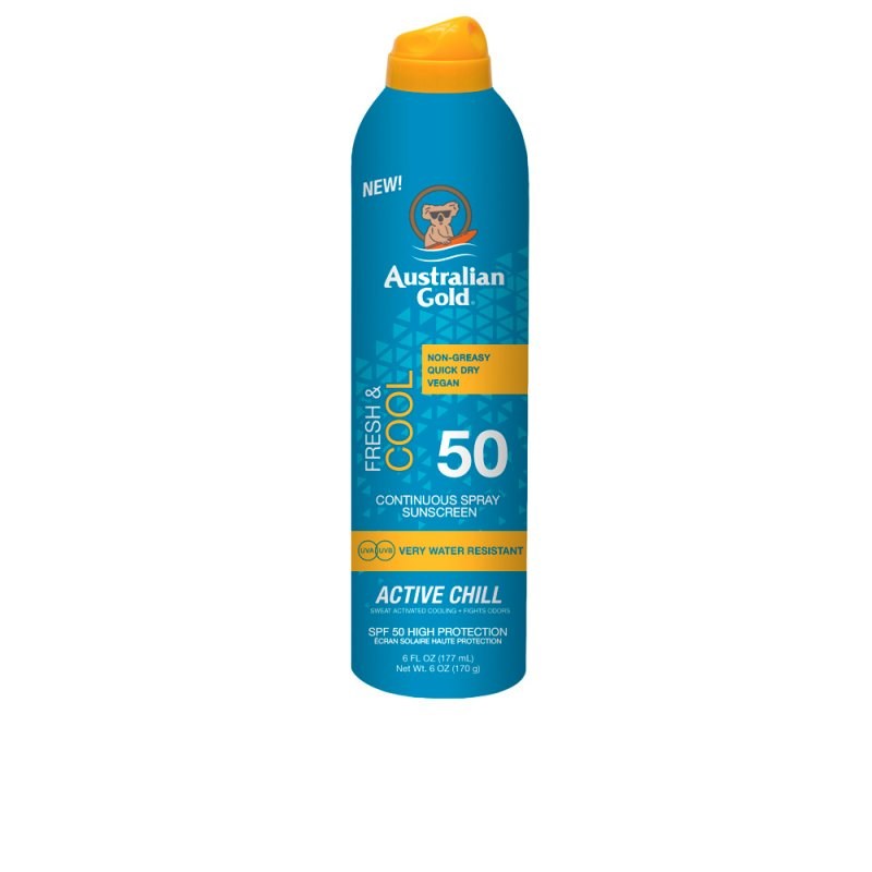 Australian Gold Fresh & Cool Continuous Spray Sunscreen SPF50 177ml