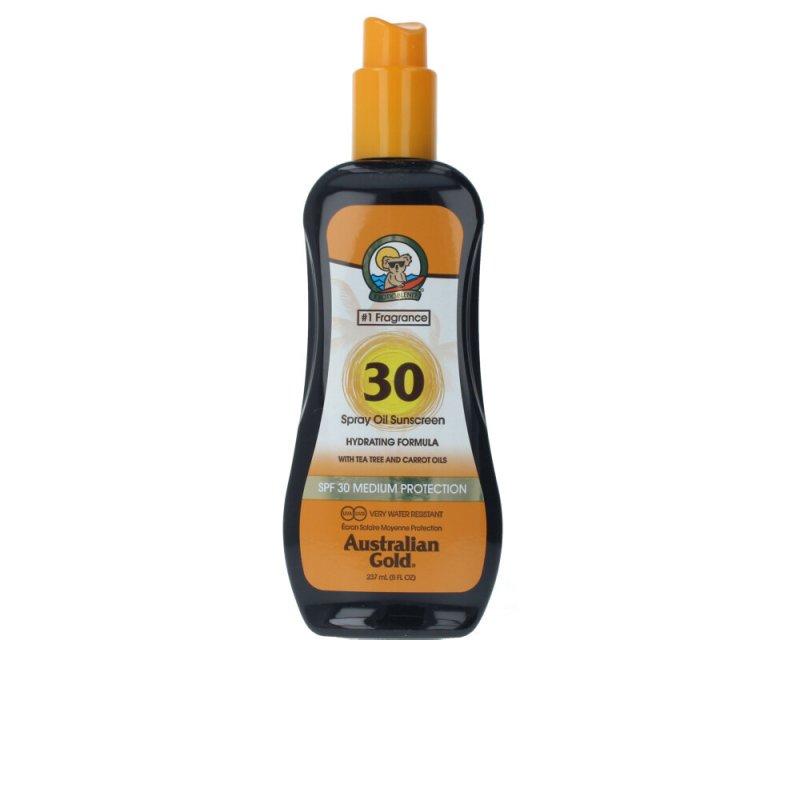 Australian Gold Sunscreen SPF30 Spray Oil Hydrating With Carrot 237ml