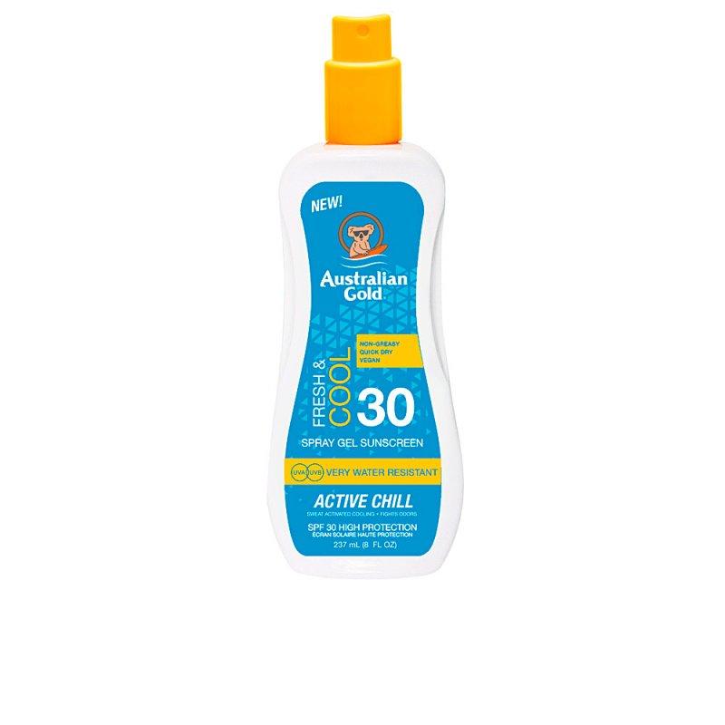 Australian Gold Sunscreen SPF30 X-Treme Sport Spray Gel Active 237ml