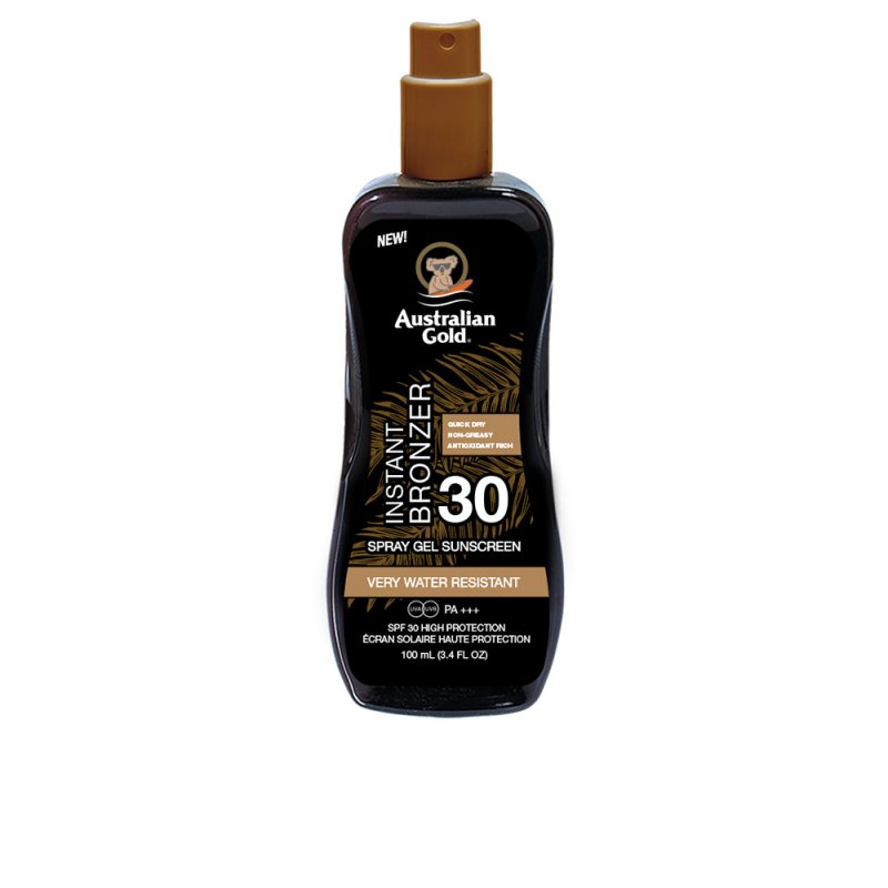Australian Gold Sunscreen Spray Gel With Instant Bronzer SPF30 100ml