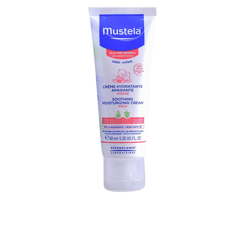 Mustela Bébé Soothing Moisturizing Cream Very Sensitive Tratamiento Facial Hidratante 40ml
