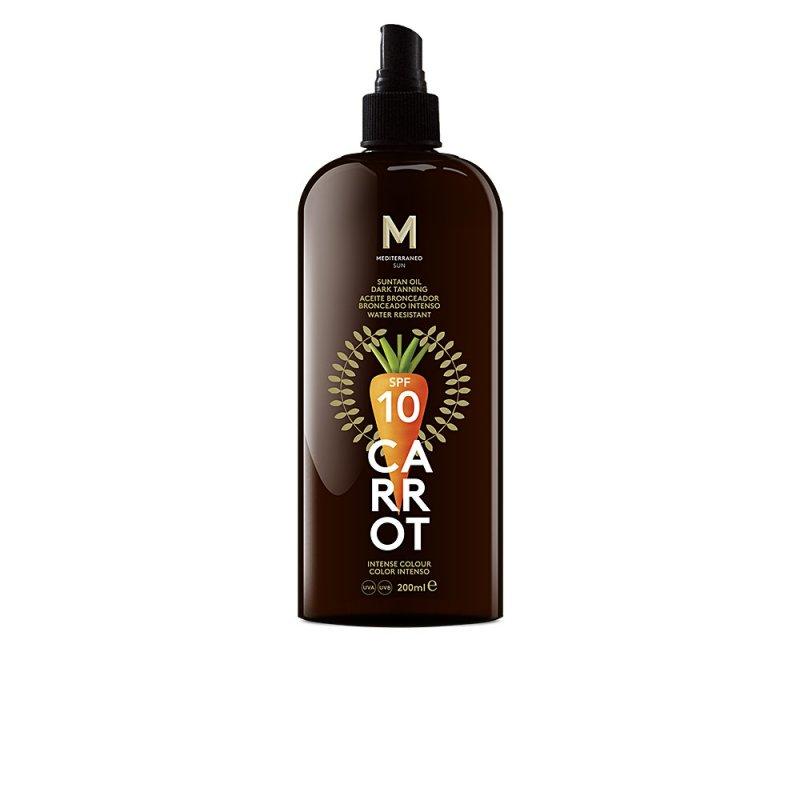 Mediterraneo Sun Carrot Suntan Oil Dark Tanning SPF10 200ml
