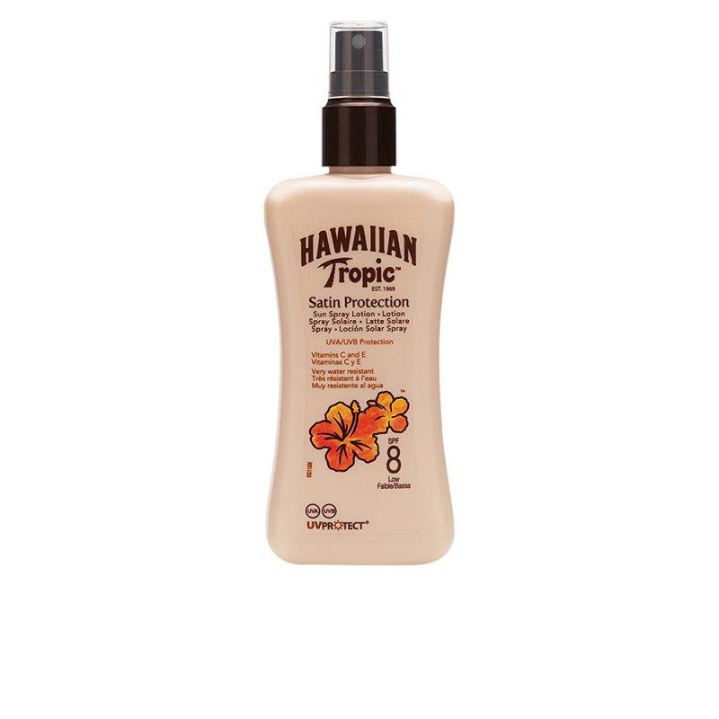 Hawaiian Tropic Satin Protection Sun Lotion SPF8 Spray 200ml