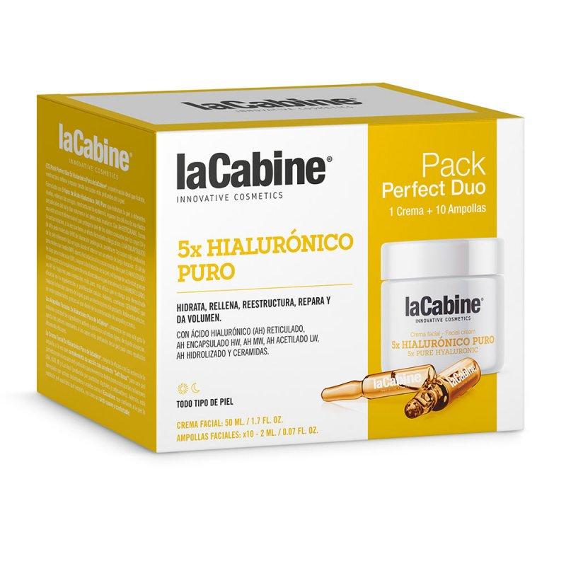 La Cabine Perfect Duo 5x Hialurónico Puro Tratamiento Facial Reafirmante 2 Ampollas