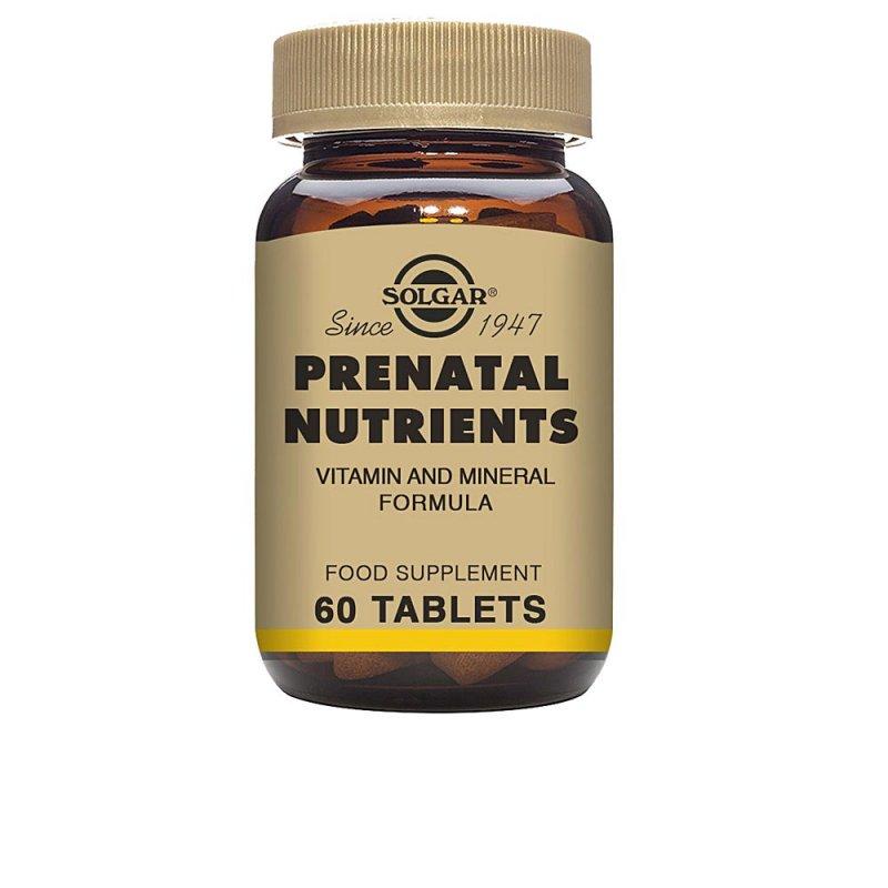 Solgar Nutrientes Prenatales Minerales Y Oligoelementos 60 Comprimidos