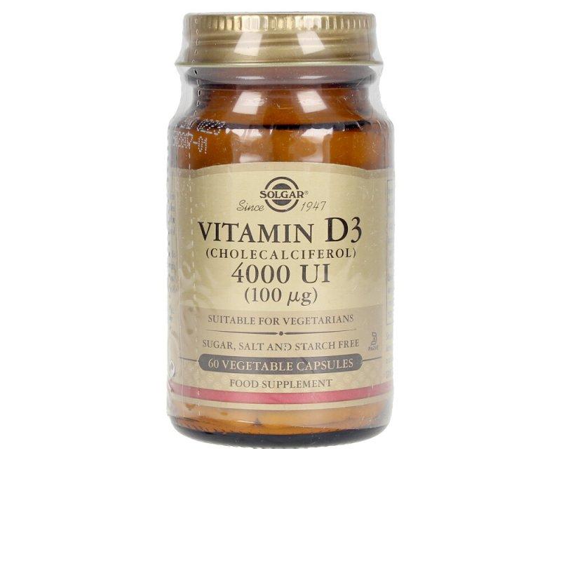 Solgar Vit D3 4000 UI Complemento Vitamínico 100 Mcg. 60 Cápsulas Vegetales 60 Caps