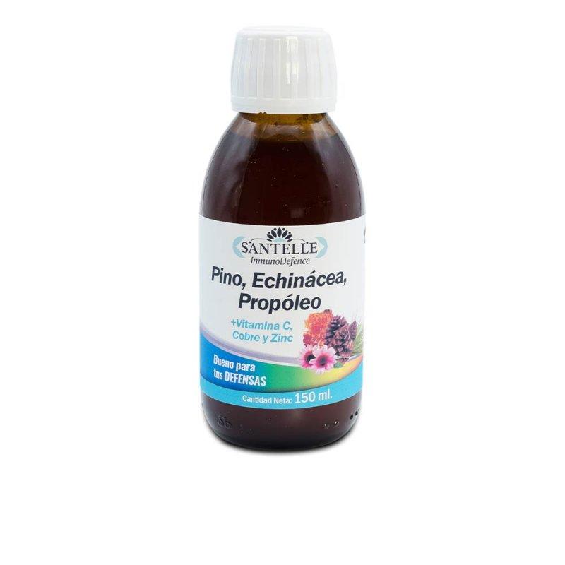 Santelle Inmunodefence Pino, Echinácea, Propóleo + Vitamina C Complemento Vitamínico 150ml