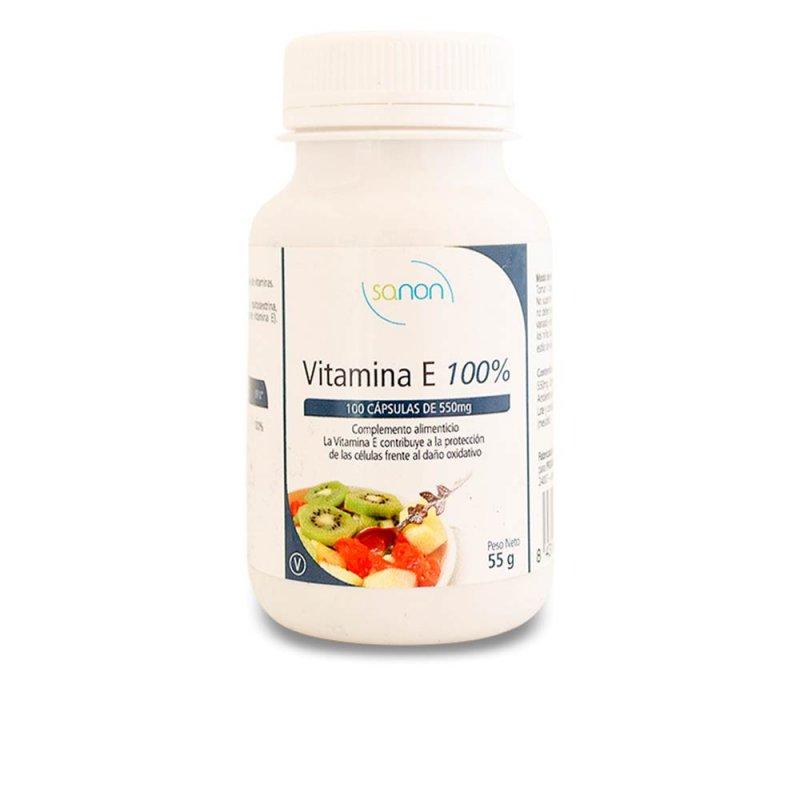 Sanon Vitamina E 100% 100 Cápsulas De 550mg