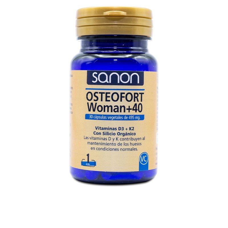 Sanon Osteofort Woman +40 Suplemento 30 Cápsulas Vegetales De 495mg