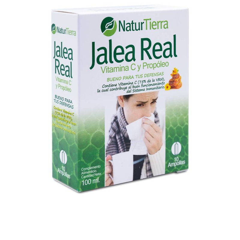 Naturtierra Jalea Real Con Vitamina C Y Propóleo Complemento Vitamínico 10 Ampollas