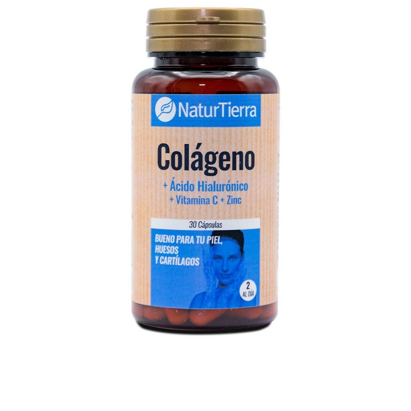 Naturtierra Colágeno + Ácido Hialurónico + Vitamina C + Zinc 30 Cápsulas