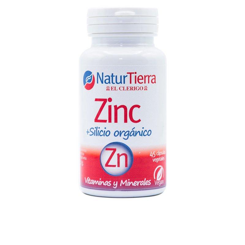Naturtierra Zinc + Silicio Orgánico Minerales Y Oligoelementos +Complemento Vitamínico 45 Cápsulas Vegetales