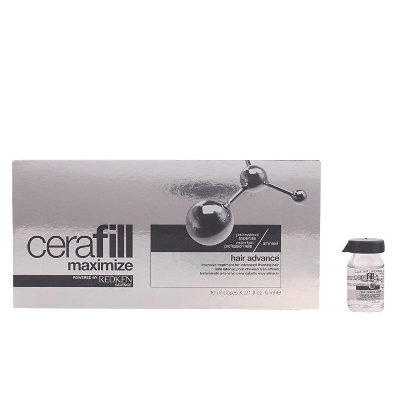 Redken Cerafill Hair Advance Aminexil Tratamiento Anticaída 10 Ampollas