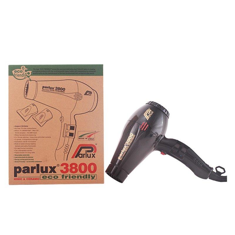 Parlux Hair Dryer 3800 Ionic & Ceramic Black Secador De Pelo