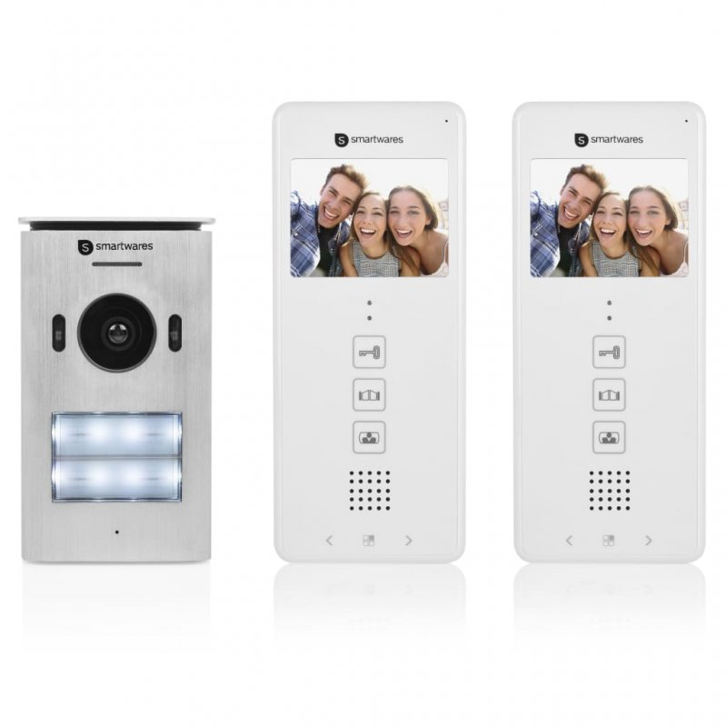 Smartwares DIC-22122 Intercomunicador Con Vídeo Doble
