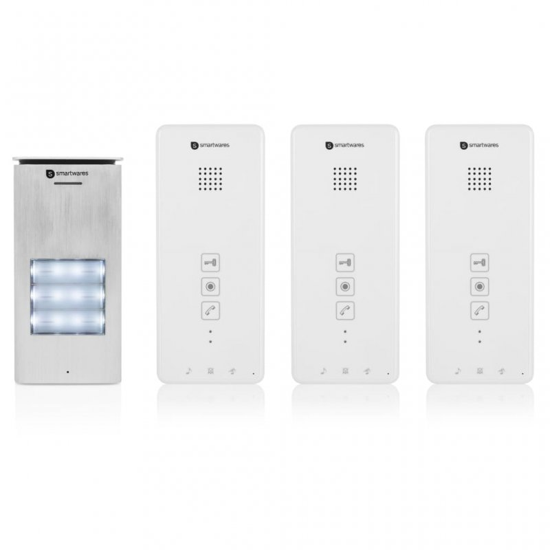 Smartwares DIC-21132 Intercomunicador 3 Apartamentos