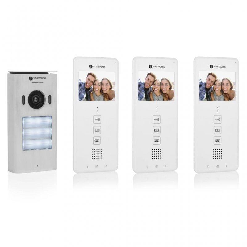 Smartwares DIC-22132 Intercomunicador Con Vídeo 3 Apartamentos