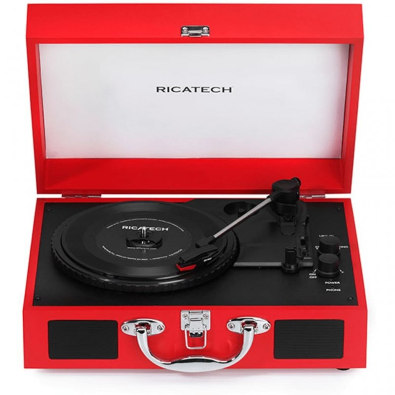 Ricatech Advanced RTT21 Tocadiscos Bluetooth Rojo