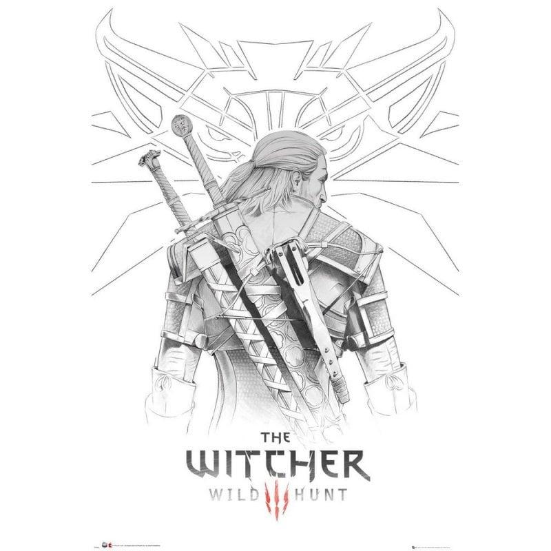 GB Eye Maxi Póster The Witcher Geralt Sketch 91.5x61cm