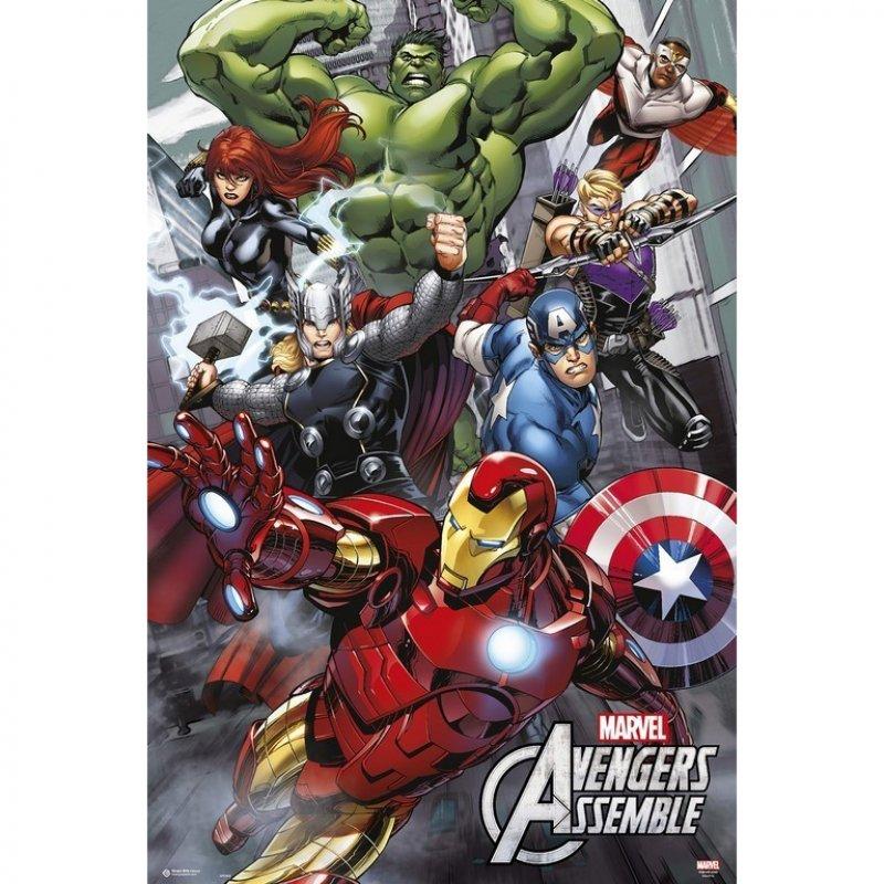Erik Maxi Póster Marvel Vengadores Assemble 91.5x61cm