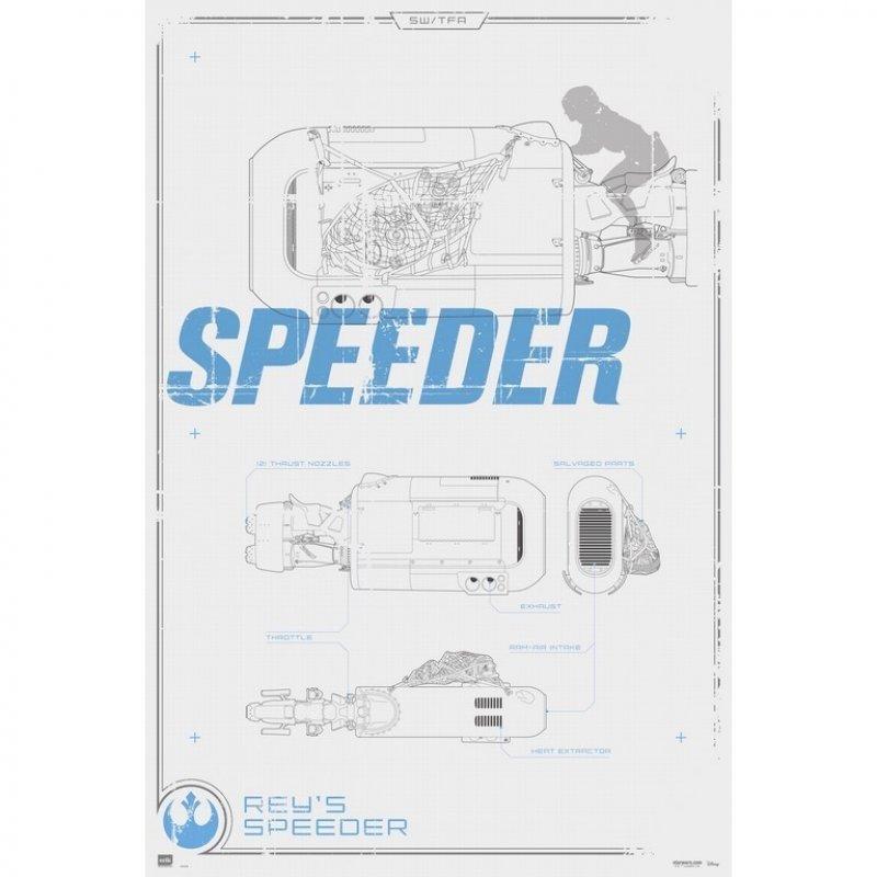 Erik Maxi Póster Star Wars Rey's Speeder 91.5x61cm