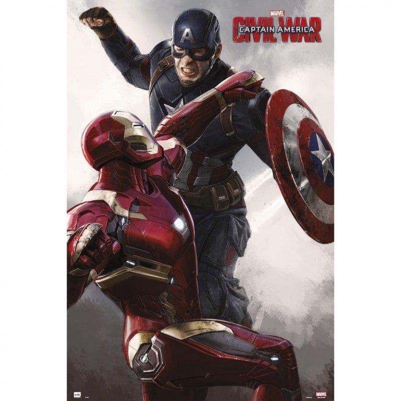 Erik Maxi Póster Civil War Capitán America Vs Iron Man 91.5x61cm