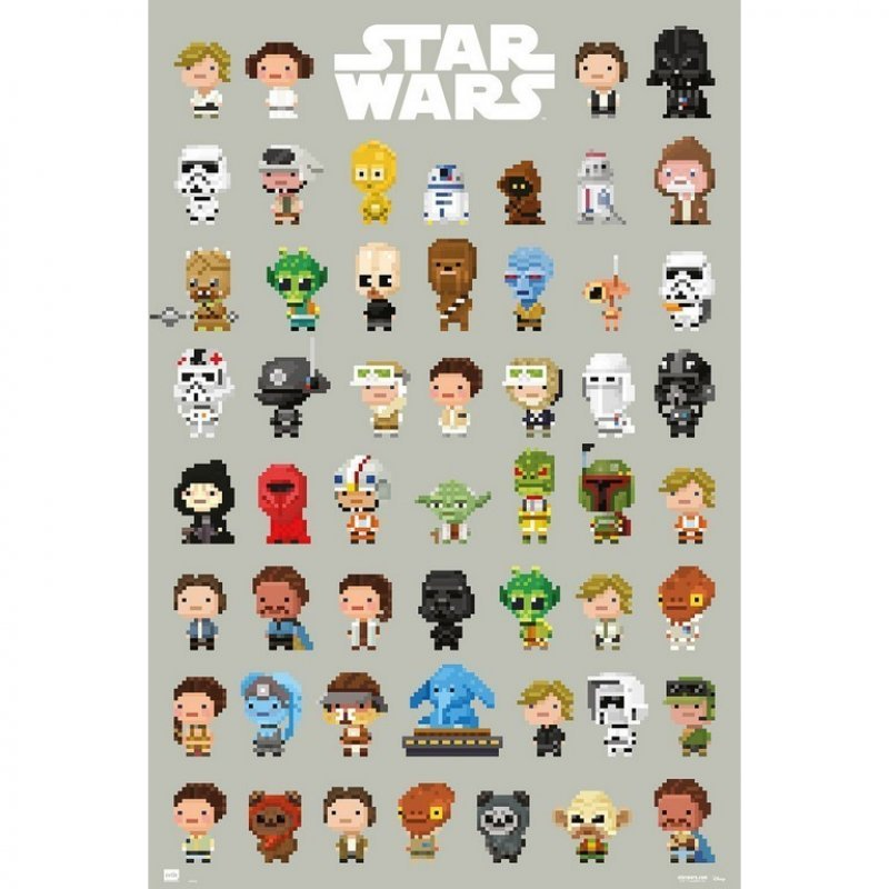 Erik Maxi Póster Star Wars 8-Bit Personajes 91.5x61cm