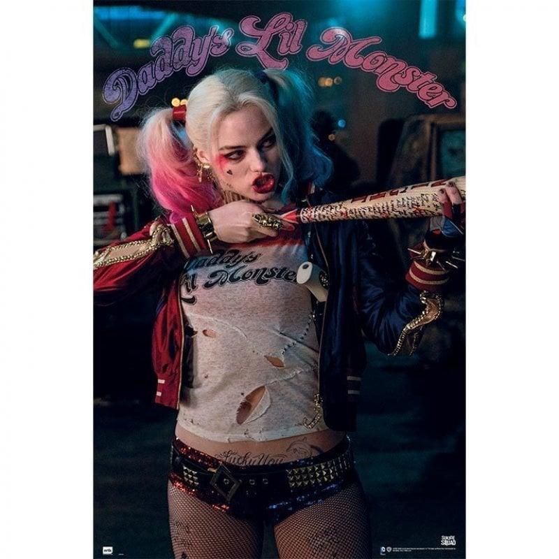 Erik Maxi Póster Escuadrón Suicida Harley Quinn Daddy's Lil Monster 91.5x61cm