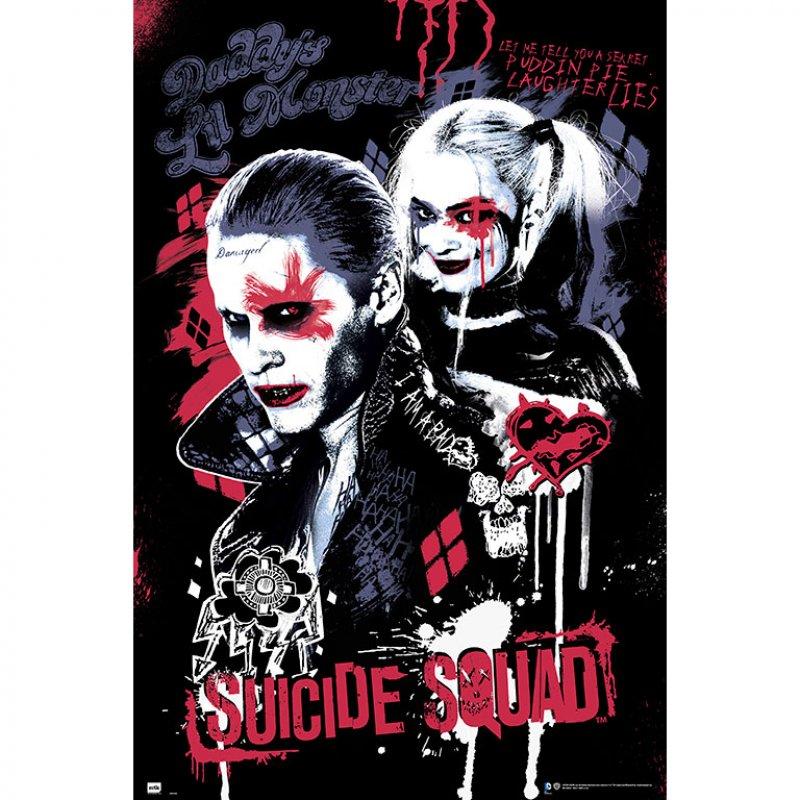 Erik Maxi Póster Escuadrón Suicida Joker & Harley Quinn 91.5x61cm