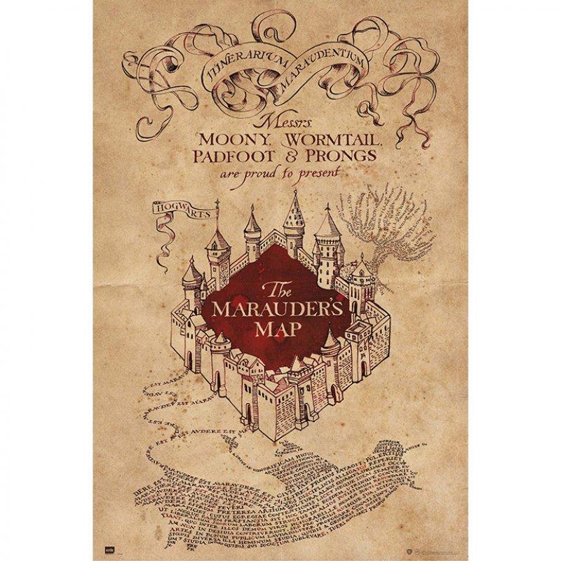 Erik Maxi Póster Harry Potter El Mapa Del Merodeador 91.5x61cm