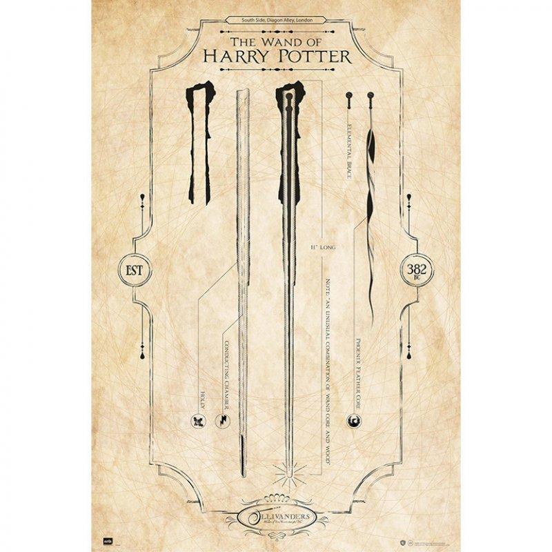 Erik Maxi Póster Harry Potter Varitas 91.5x61cm