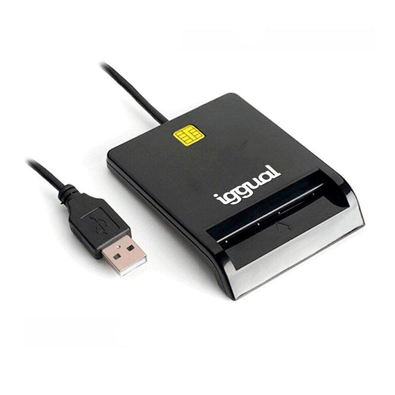 Iggual IGG316740 Lector De Tarjeta Magnética USB Negro