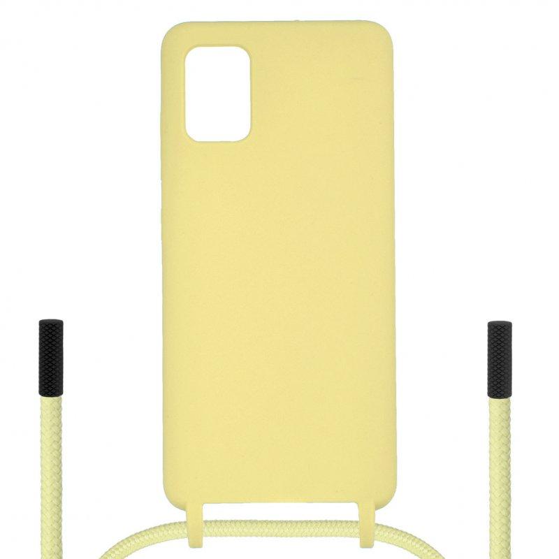 Funda Ultra Suave Colgante Amarilla para Samsung Galaxy A71