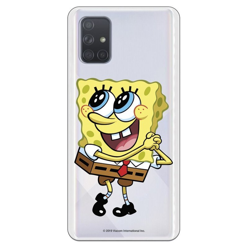 Funda Oficial de Nickelodeon Bob Esponja Ojitos para Samsung Galaxy A71
