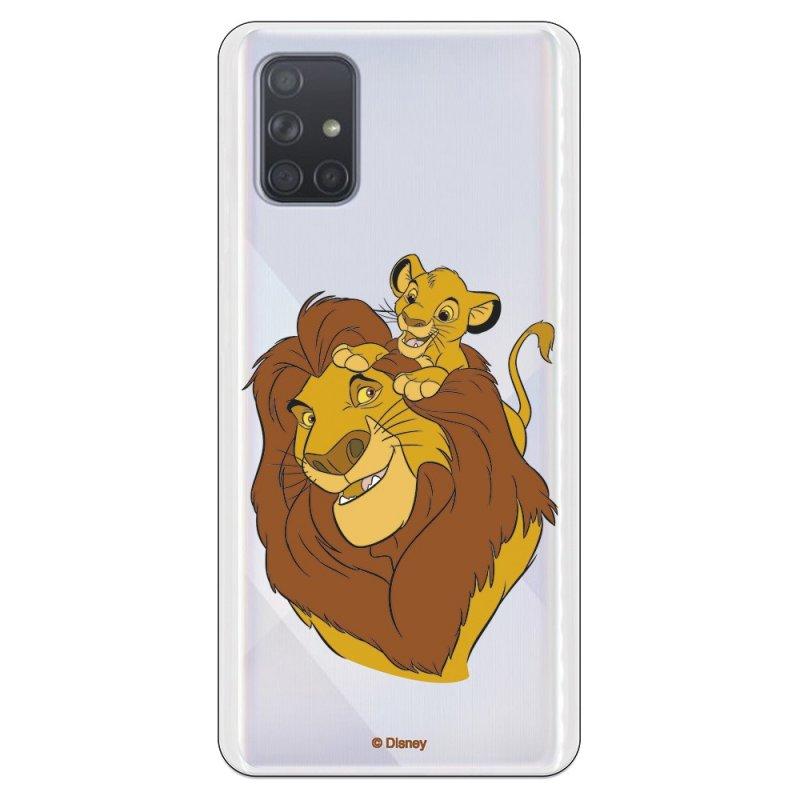 Funda Oficial de Disney Mufasa y Simba Silueta El Rey León para Samsung Galaxy A71