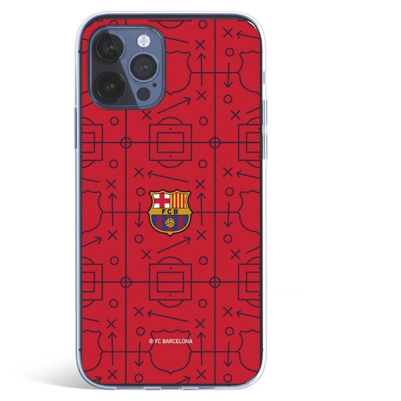 Funda Escudo Fondo Rojo Tactics Licencia Oficial FC Barcelona para iPhone 12
