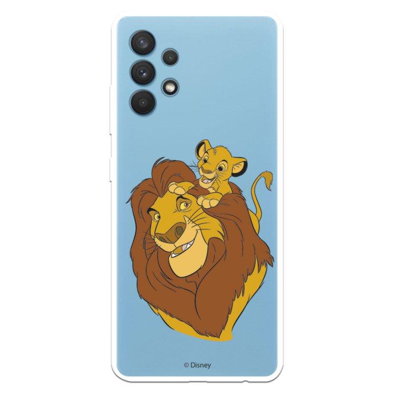 Funda Oficial Disney El Rey León Silueta Mufasa y Simba para Samsung Galaxy A32