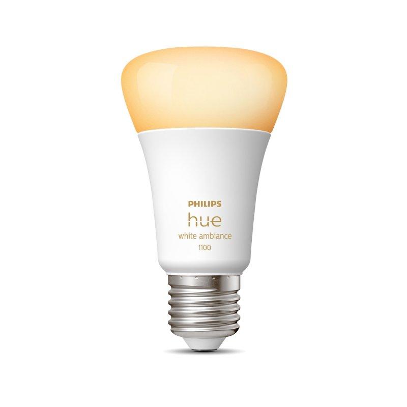 Philips Hue White Ambiance Bombilla LED Inteligente E27 8W Luz Blanca Cálida A Fría