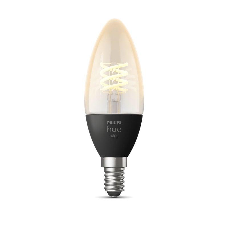 Philips Hue White Bombilla LED Inteligente Vela Filamento 4.5W E14 Luz Blanca Cálida