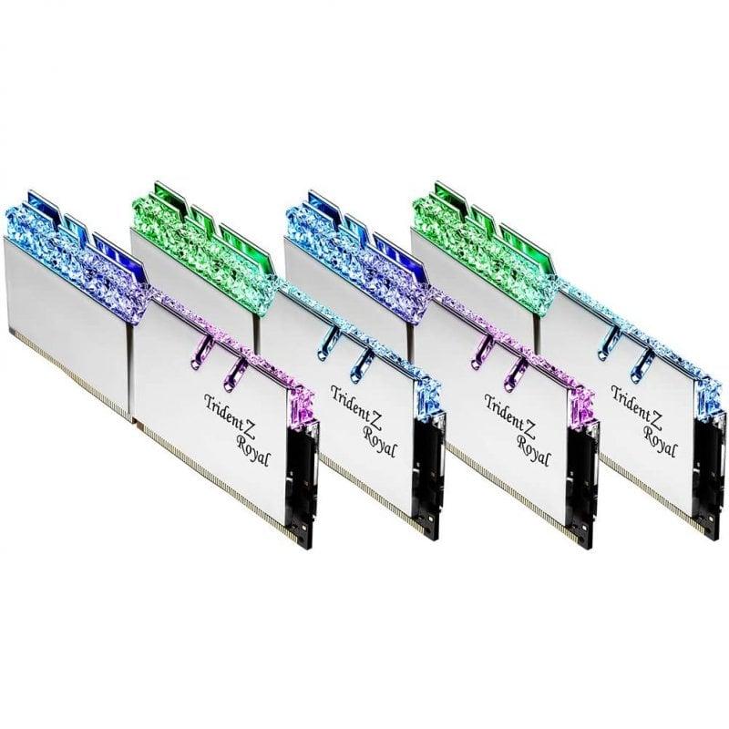 G.Skill Trident Z Royal DDR4 4000MHz 32GB 4x8GB CL18 Plata