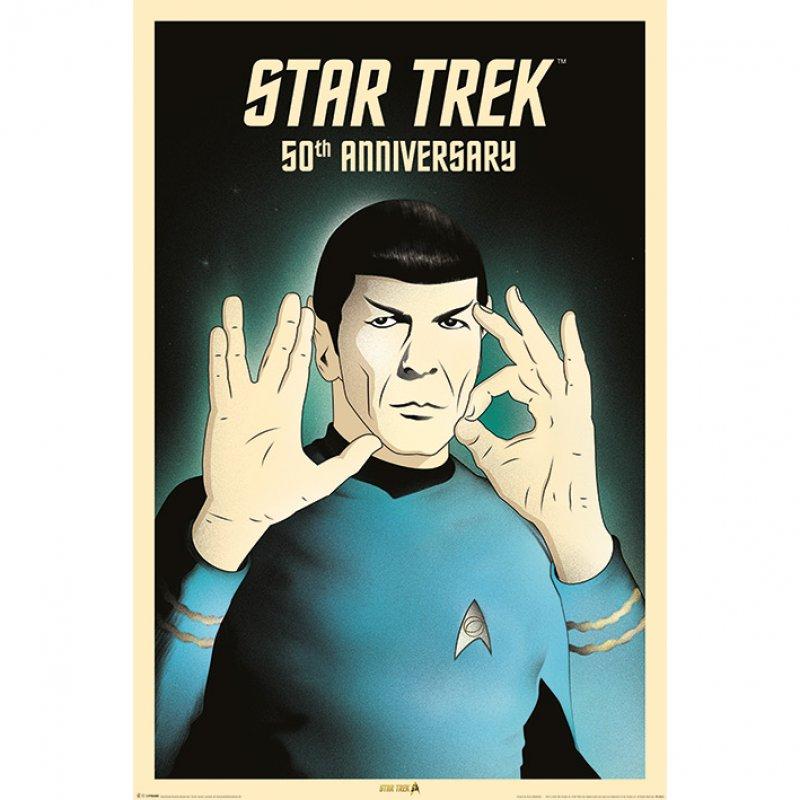 Pyramid Maxi Póster Star Trek Spock 5-0 50Th Anniversary 91.5x61cm