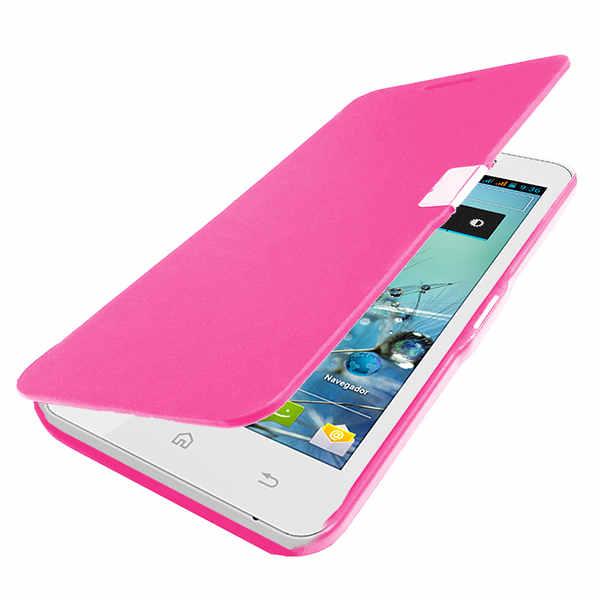 Funda flip cover rosa para bq aquaris 4 5 pccomponentes - Fundas aquaris 5 ...