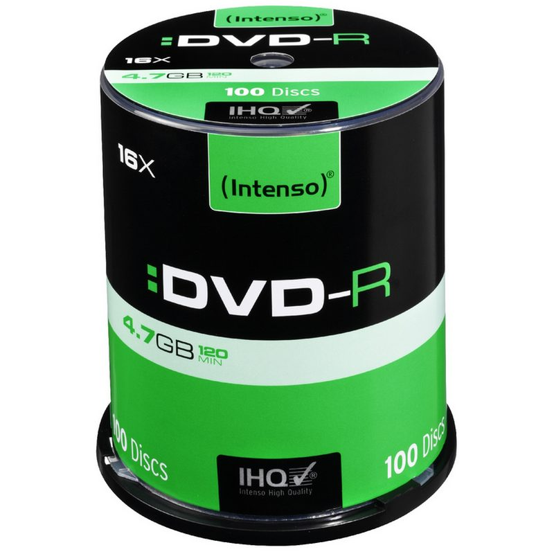 Intenso DVD-R 16x  4.7GB Tarrina 100 Unidades