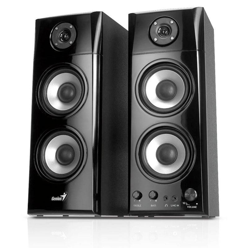 genius sp hf1800a altavoces 2 0 50w rms negros pccomponentes. Black Bedroom Furniture Sets. Home Design Ideas